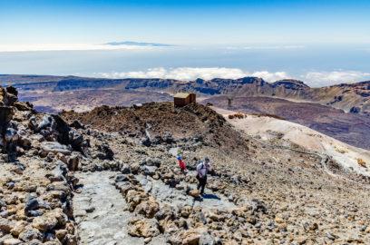 Počiatočné stúpanie k vrcholu sopky Pico el Teide