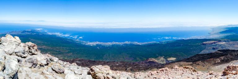 Pohľad na ostrov z vrcholu sopky Pico el Teide