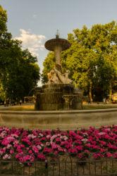 Jedna z fontán v parku Retiro