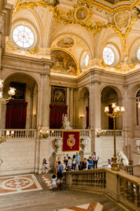 Schodisko - Kráľovský palác v Madride