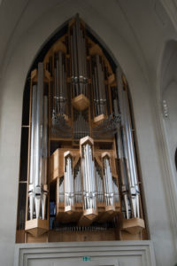 Veľkolepý organ v kostole Hallgrímskirkja