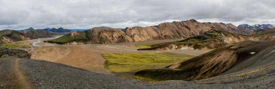 Dúhové hory v Landmannalaugare