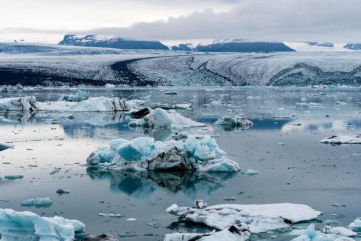 Ľadovcová zátoka Jökulsárlón