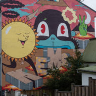 Street art v uliciach Reykjavíku