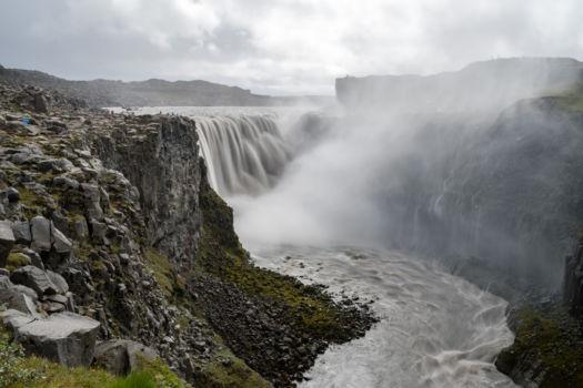 Detifoss, druhý najmohutnejší vodopád Európy