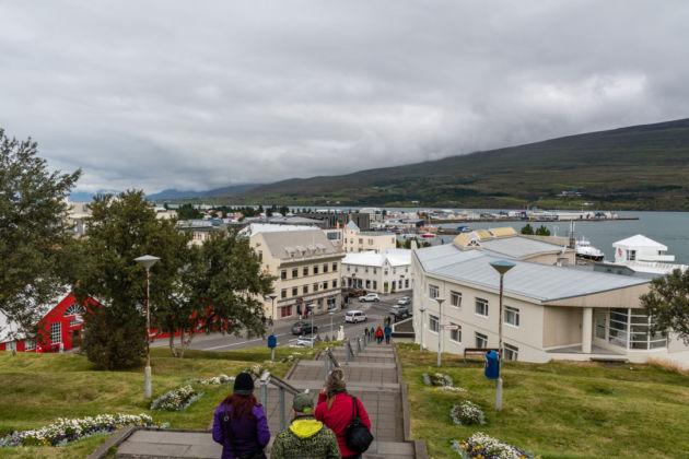 Akureyri, pohľad od kostola