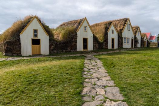 Glaumbær, starodávne domy z hliny