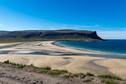 Pláž po ceste na Látrabjarg