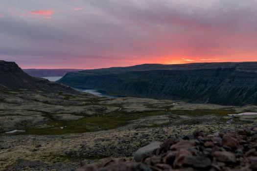Západ slnka po ceste do Thingeiri