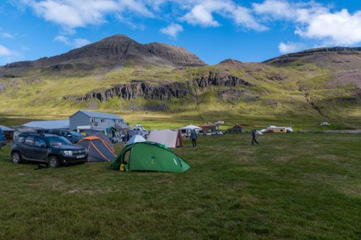 Camping Urdartindur, 5 minút autom od Krossneslaugu